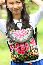 Ethnic Embroidery Backpack