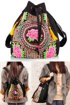 Ethnic Embroidery Shoulder-bag / Backpack