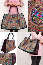 Ethnic Embroidery Large Handbag