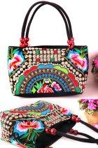 民族風繡花手提包