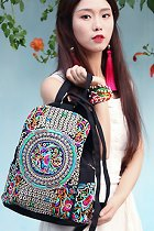民族風繡花背包