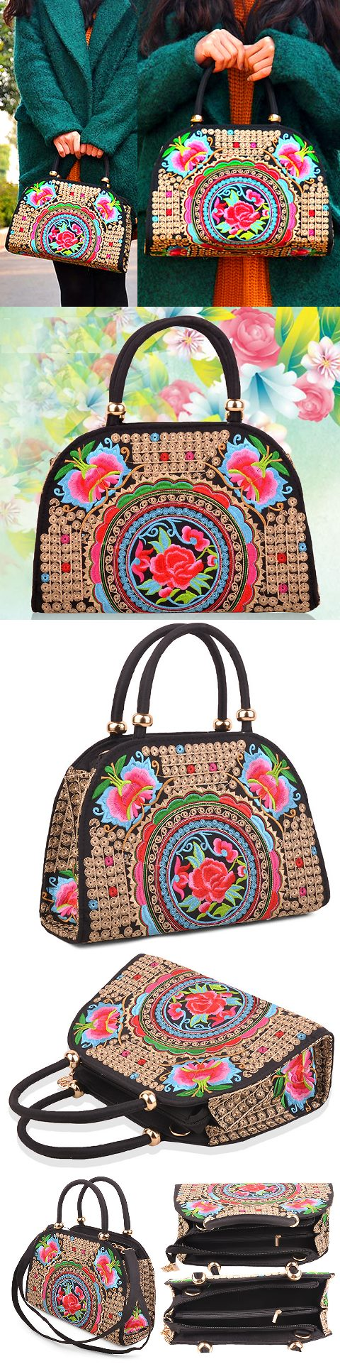 Ethnic Embroidery Handbag