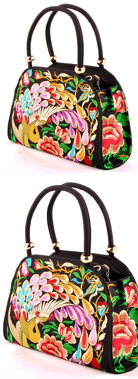 Ethnic Embroidery Handbag