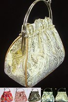 Bronzing Brocade Handbag (Multicolor)