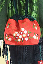 Thai Silk Velvet Embroidery Handbag (Multicolor)