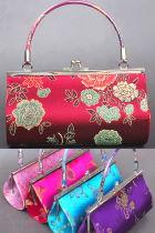 Brocade Handle Handbag (Multicolor)