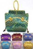 Waves and Clouds Brocade Handbag (Multicolor)