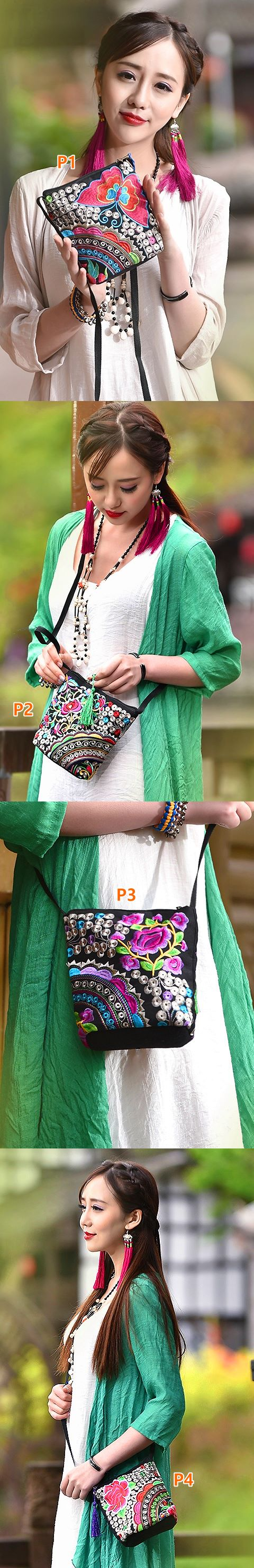 Ethnic Embroidery Crossbody Bag
