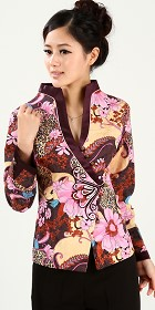 Mandarin Long-sleeve Jacket (Ready-Made)
