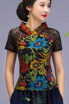 Exquisite Gauze Ethnic Printing Blouse (RM)
