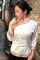Bargain - 3/4-sleeve Mandarin Blouse (RM)