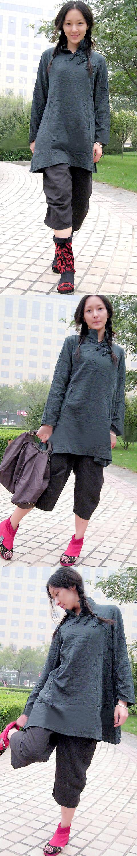 長袖唐裝上衣(定做)