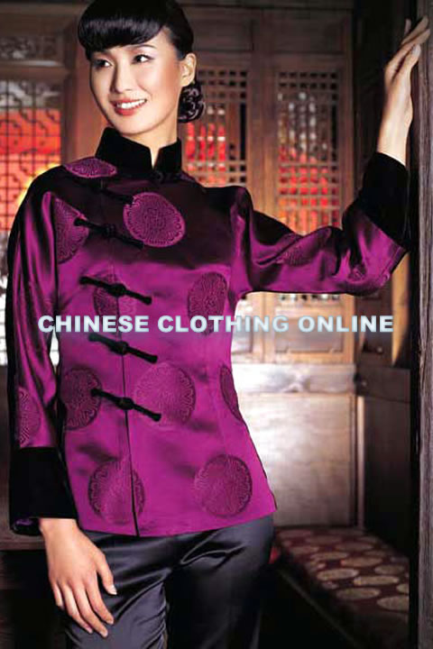 Long-sleeve Mandarin Blouse (CM)
