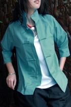 Ethnic 3/4-Sleeve High Standing Collar Blouse/Jacket (CM)