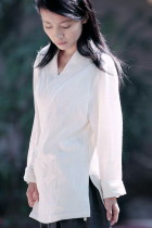Long-sleeve Cross-collar Hanfu Shirt (CM)
