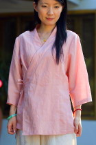 3/4-sleeve Cross-collar Hanfu Shirt (CM)