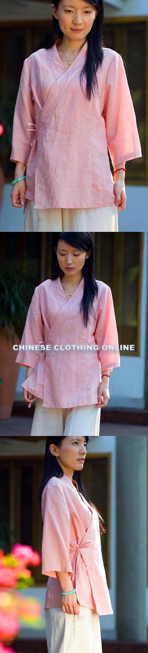 3/4-sleeve Cross-collar Hanfu Shirt (CM)