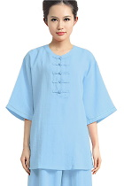 Ethnic Elbow-sleeve Round Neckline Pullover (CM)