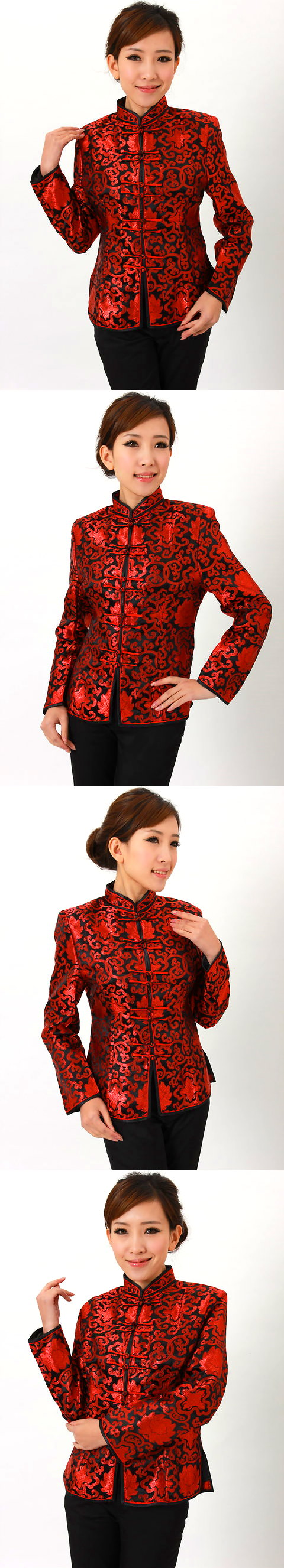 Mandarin Collar Embroidery Chinese Jacket (CM)