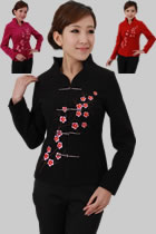 Mandarin Plum Blossom Wool Jacket (RM)