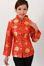Mandarin V-Collar Embroidery Chinese Jacket (CM)