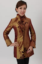 Mandarin Embroidery Extra Long Jacket (RM)