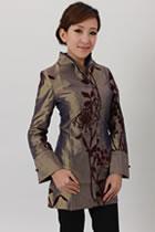 中式刺繡超長上衣(成衣)