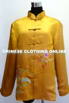 Bargain - Xiang Embroidery Silk Jacket (Gold)