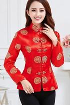 Mandarin Longevity Icons Embroidery Jacket (CM)