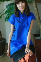 Ethnic Cup-sleeve Blouse (CM)