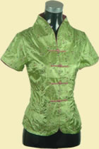 Short-sleeve Embroidery Mandarin Blouse (RM)