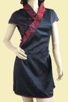短袖漢服領長身上衣(成衣)