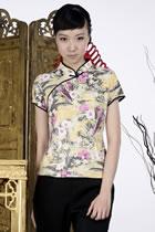 印花中式短袖上衣