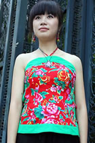 Bare Shoulders Mandarin Blouse (CM)