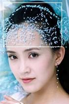 古裝珍珠頭飾連耳環 (多色)