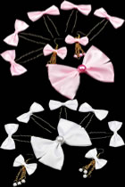 Bowknot Hairgrips with Earrings Set