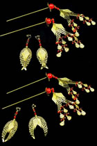 Buyao Hairpins with Earrings Set