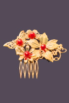 Golden Hairgrip with Ruby