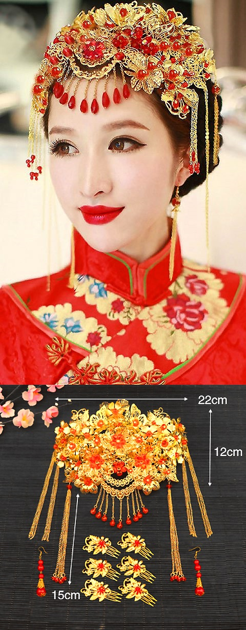 Luxurious Flower Headgear Set