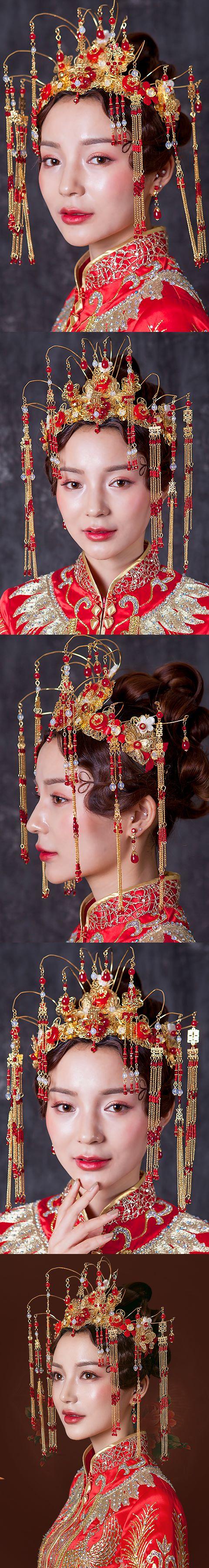 Luxurious Crown Style Headgear Set