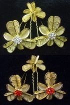 Little Golden Floral Headgears (6 pcs)