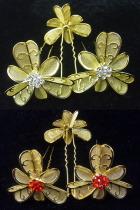 Little Golden Floral Headgears (6 pcs)