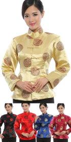 唐裝團壽刺繡夾克 (定製)