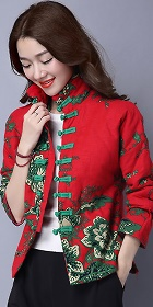 Bargain - Trendy Ethnic Cotton Linen Wadded Jacket (RM)