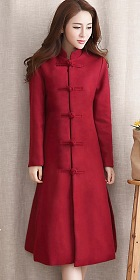 Trendy Ethnic Thick Faux Wool Coat (RM)