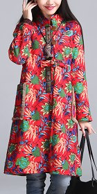 Trendy Ethnic Cotton Wadded Faux Wool Coat (RM)
