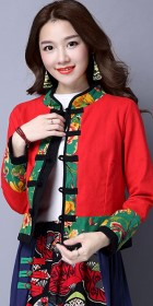 Trendy Ethnic Cotton Linen Jacket (RM)