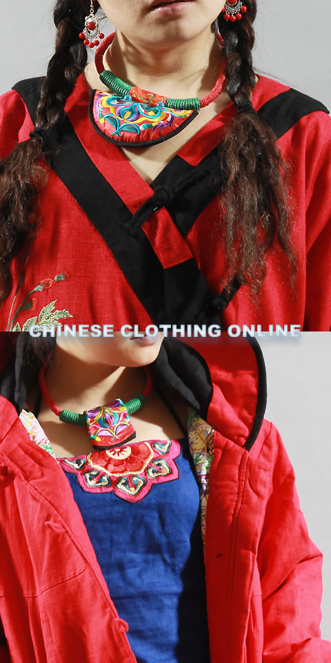 Ethnic Embroidery Necklace