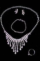 首飾套裝 - 項鏈、耳環、手鏈、戒指