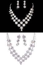 Bridal Necklace and Earrings Set